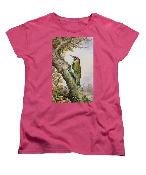 Green Woodpecker Women's T-Shirt (Standard Cut) by Carl Donner