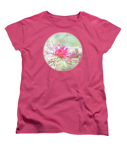 Women's T-Shirt (Standard Cut) featuring the photograph Grevillea by Linda Lees