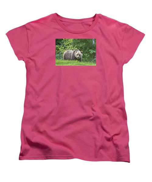 Women's T-Shirt (Standard Cut) featuring the photograph Grizzly Bear by Gary Lengyel