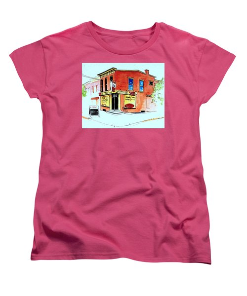 Women's T-Shirt (Standard Cut) featuring the painting Grodzicki's Market by William Renzulli