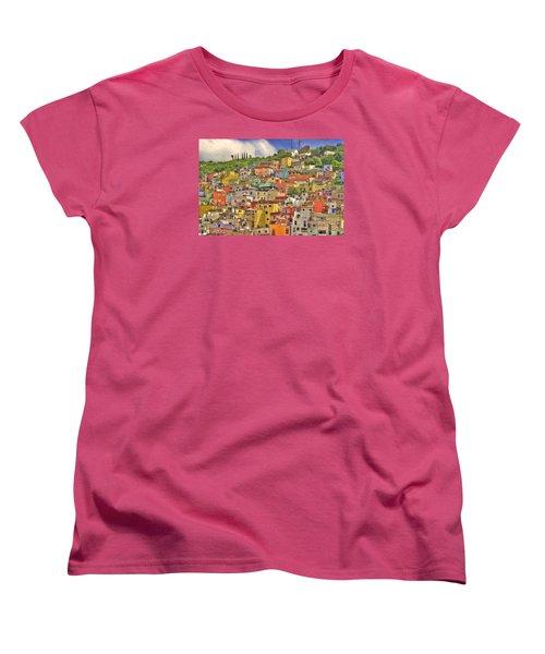 Guanajuato Hillside Women's T-Shirt (Standard Cut) by Juli Scalzi