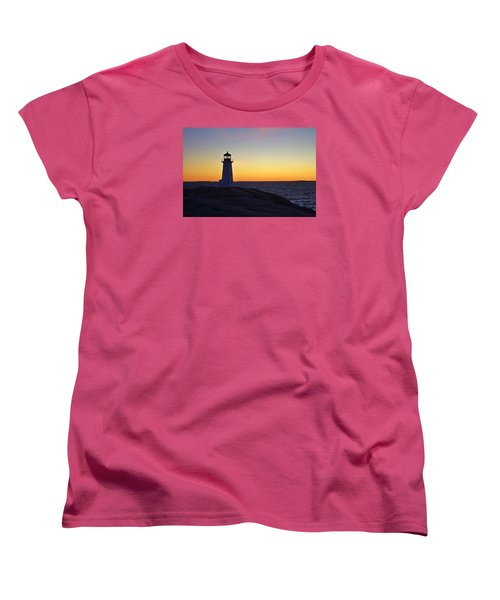 Peggy's Cove Lighthouse Women's T-Shirt (Standard Cut) by Heather Vopni