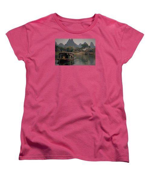Guilin Limestone Peaks Women's T-Shirt (Standard Cut) by Travel Pics