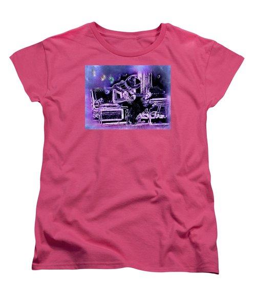 Women's T-Shirt (Standard Cut) featuring the photograph Guitar Blues by Susan Kinney