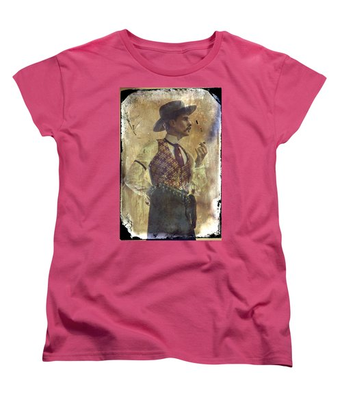 Gunslinger IIi Doc Holliday In Fine Attire Women's T-Shirt (Standard Cut) by Toni Hopper