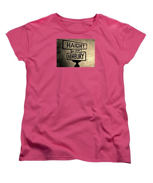 Haight Ashbury Women's T-Shirt (Standard Cut) by Dany Lison
