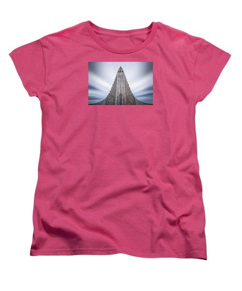 Hallgrimskirkja Cathedral Women's T-Shirt (Standard Cut) by Brad Grove
