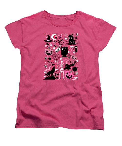 Halloween Night  Women's T-Shirt (Standard Cut) by Mark Ashkenazi