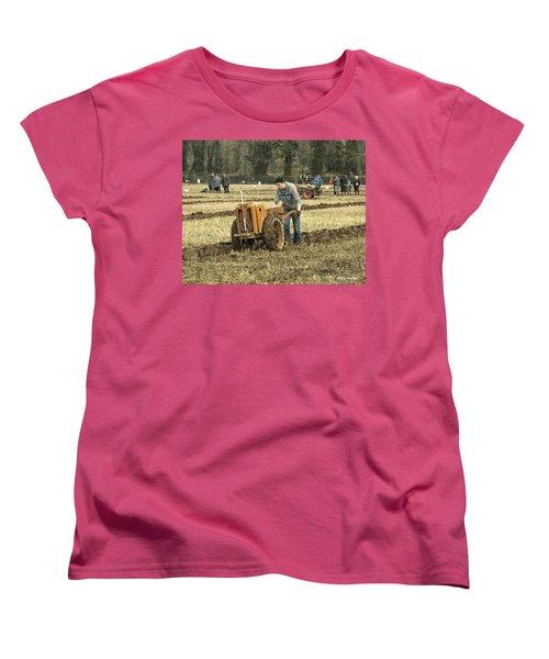 Hand Held Tractor Plough Women's T-Shirt (Standard Cut) by Roy McPeak