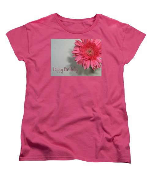 Happy Birthday Women's T-Shirt (Standard Cut) by Marna Edwards Flavell