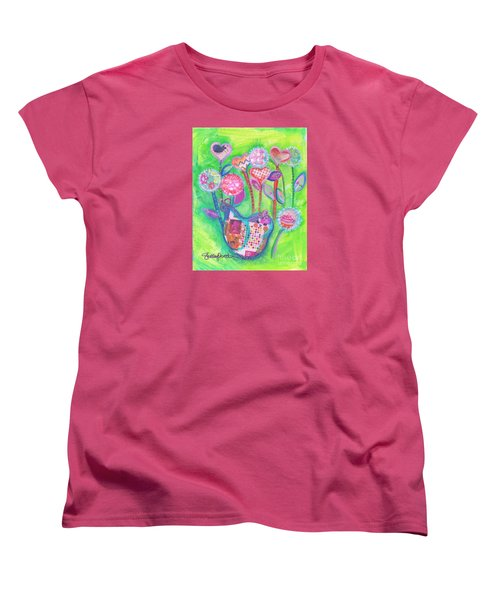 Happy Birthday Mindy Birdy Women's T-Shirt (Standard Cut) by Shelley Overton