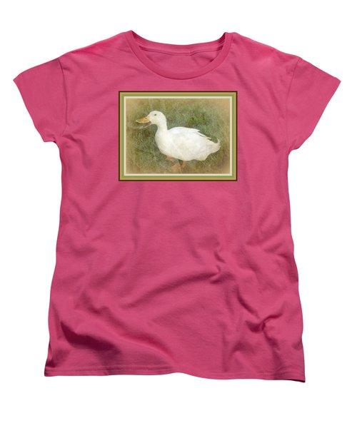 Happy Duck Portrait Women's T-Shirt (Standard Cut)