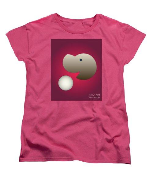 Women's T-Shirt (Standard Cut) featuring the digital art Happy by John Krakora
