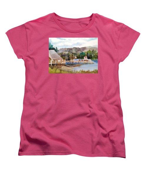 Harbour Scene Women's T-Shirt (Standard Cut) by Larry Hamilton
