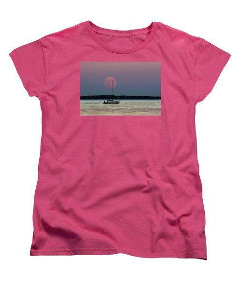 Harvest Moon - 365-193 Women's T-Shirt (Standard Cut) by Inge Riis McDonald