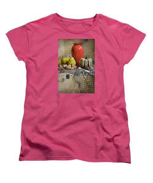 Harvest Vase Women's T-Shirt (Standard Cut) by Diana Angstadt
