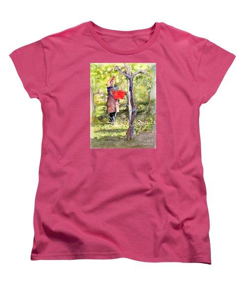 Harvesting Anna's Grapes Women's T-Shirt (Standard Cut) by Bonnie Rinier