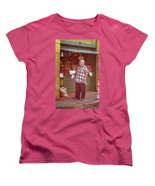 Women's T-Shirt (Standard Cut) featuring the photograph Havana Cuba Corner Market by Joan Carroll