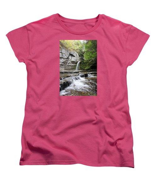 Eagle Cliff Falls II Women's T-Shirt (Standard Cut) by Trina  Ansel