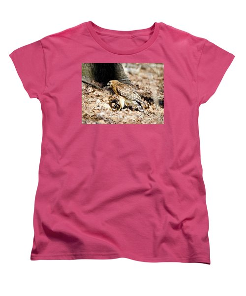 Women's T-Shirt (Standard Cut) featuring the photograph Hawk And Gecko by George Randy Bass