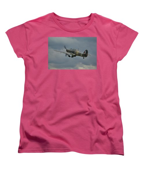 Hawker Hurricane Mk Xii  Women's T-Shirt (Standard Cut) by Tim Beach