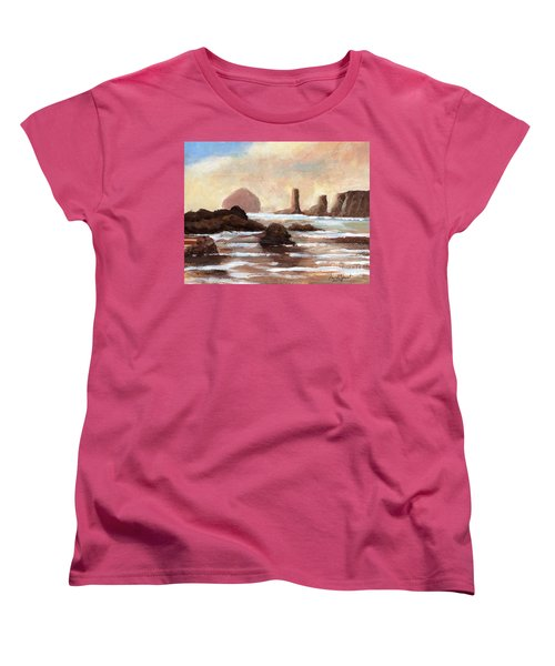Hay Stack Reef Women's T-Shirt (Standard Cut) by Randy Sprout