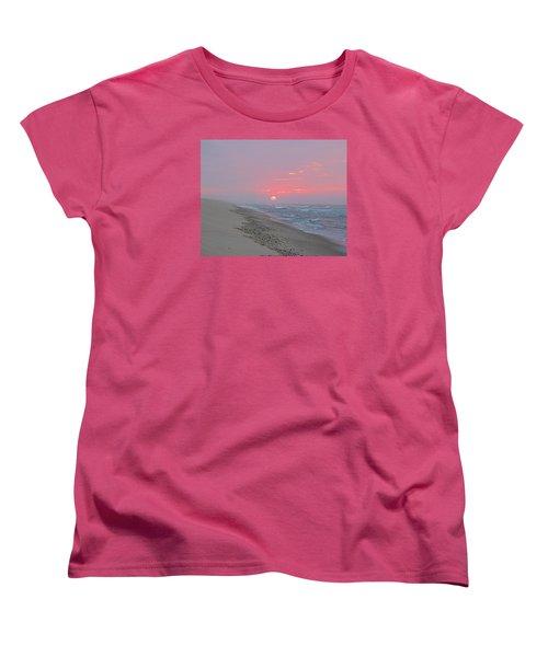 Women's T-Shirt (Standard Cut) featuring the photograph Hazy Sunrise by  Newwwman