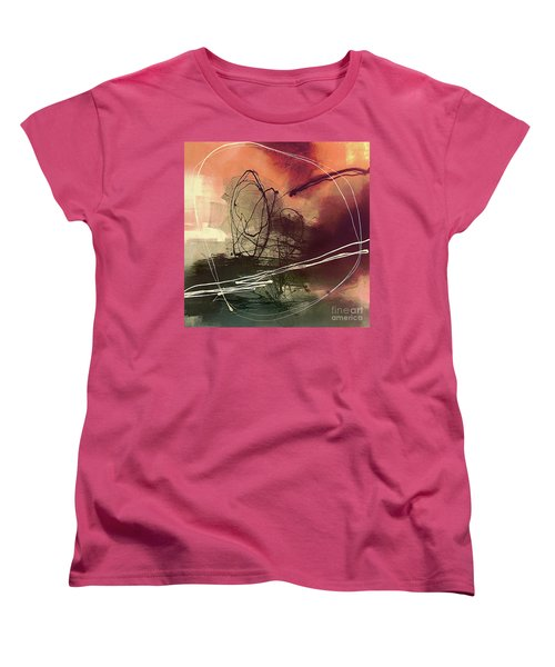 Women's T-Shirt (Standard Cut) featuring the painting Head Of Psychology Rose by Tatiana Iliina