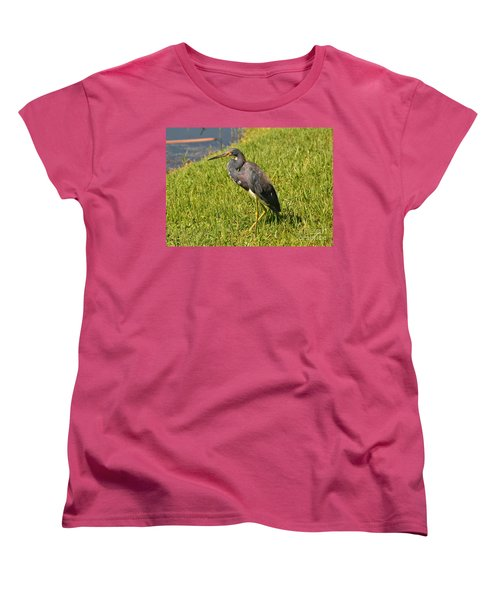 Women's T-Shirt (Standard Cut) featuring the photograph Heading For Water by Carol  Bradley