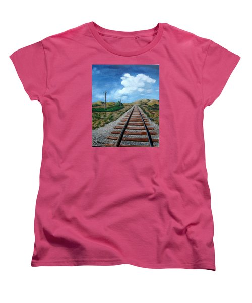 Heading West Women's T-Shirt (Standard Cut) by Laurie Morgan