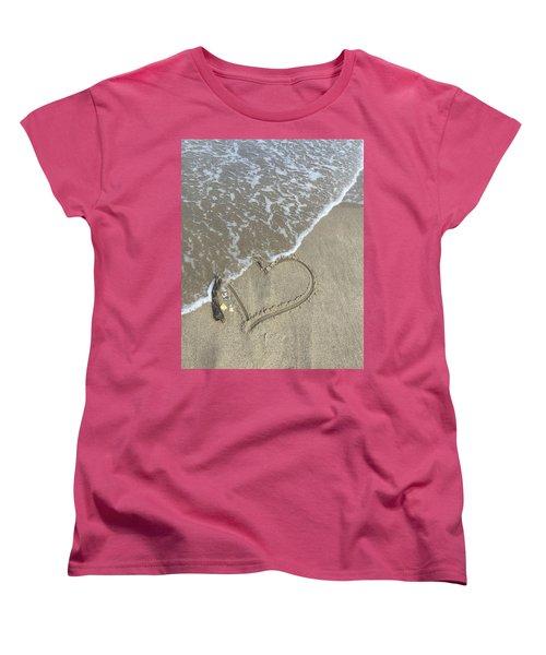 Heart Lost Women's T-Shirt (Standard Cut) by Arlene Carmel