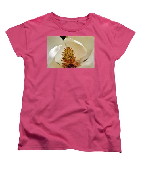 Women's T-Shirt (Standard Cut) featuring the photograph Heart Of Magnolia by Larry Bishop
