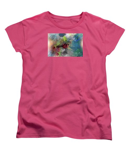 Women's T-Shirt (Standard Cut) featuring the painting Heart Of The Matter by Allison Ashton