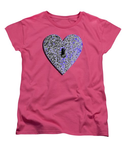 Heart Shaped Lock .png Women's T-Shirt (Standard Cut) by Al Powell Photography USA