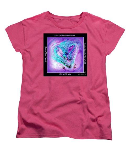 Heart Swirl Sedona Women's T-Shirt (Standard Cut) by Marlene Rose Besso