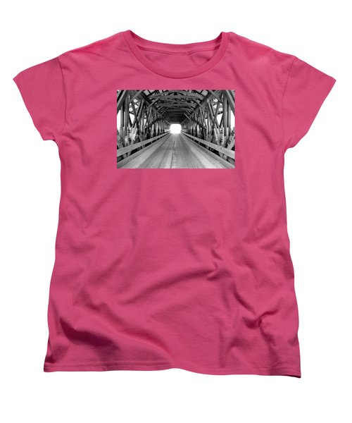 Henniker Covered Bridge Women's T-Shirt (Standard Cut)