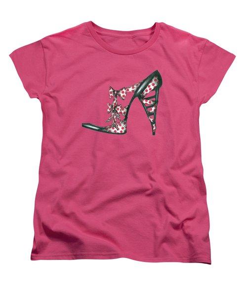 Her Shoe  Women's T-Shirt (Standard Cut) by Herb Strobino