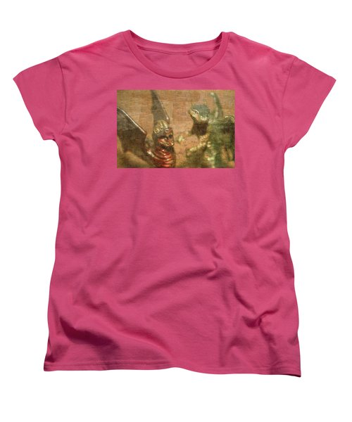 ....here There Be Dragons Women's T-Shirt (Standard Cut) by Martina Fagan