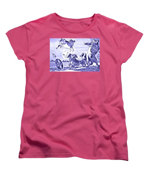 Hey Diddle Diddle The Cat And The Fiddle Nursery Rhyme Women's T-Shirt (Standard Cut) by Marian Cates