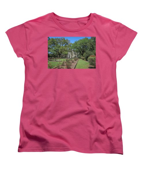 Women's T-Shirt (Standard Cut) featuring the photograph Heyman House Garden 5 by Gregory Daley  PPSA