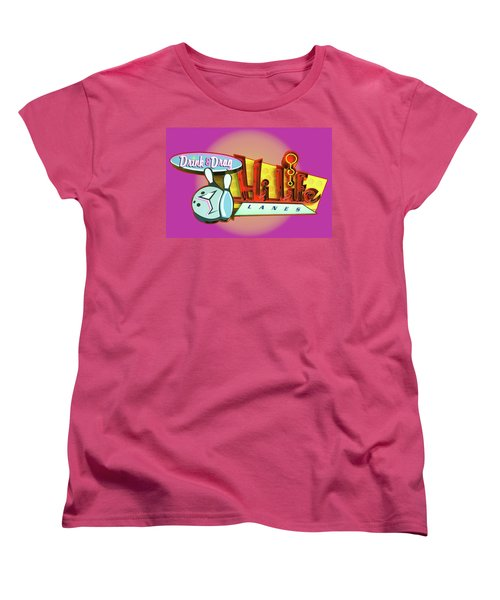 Women's T-Shirt (Standard Cut) featuring the photograph Hi Life Drink And Drag by Jeff Burgess