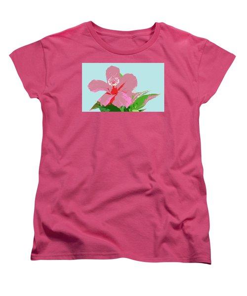 Hibiscus Flower Art - 3 Women's T-Shirt (Standard Cut) by Karen Nicholson