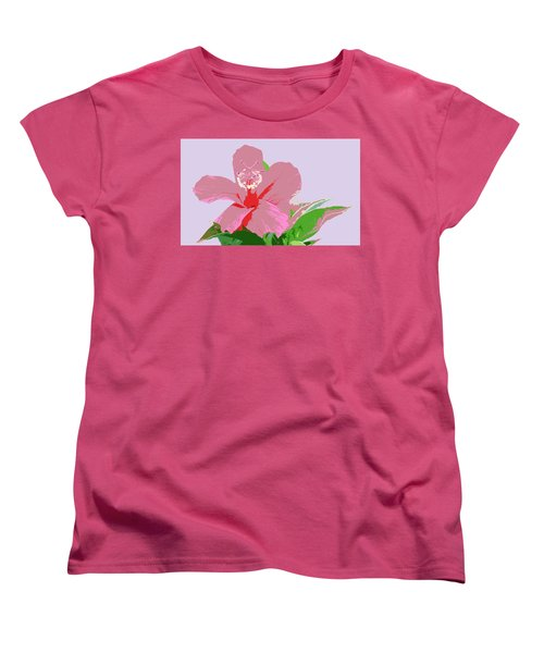 Hibiscus Flower Art Women's T-Shirt (Standard Cut) by Karen Nicholson
