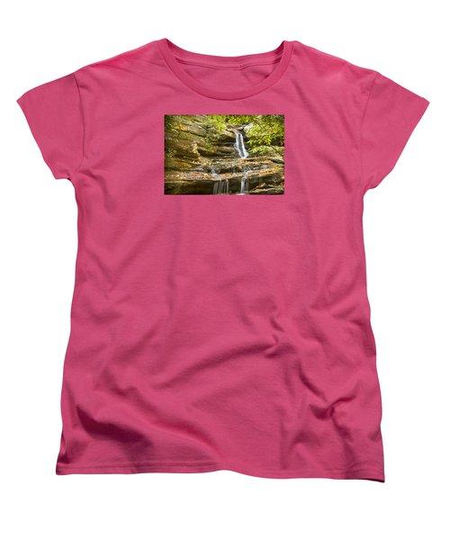 Hidden Falls-hanging Rock State Park Women's T-Shirt (Standard Cut) by Bob Decker