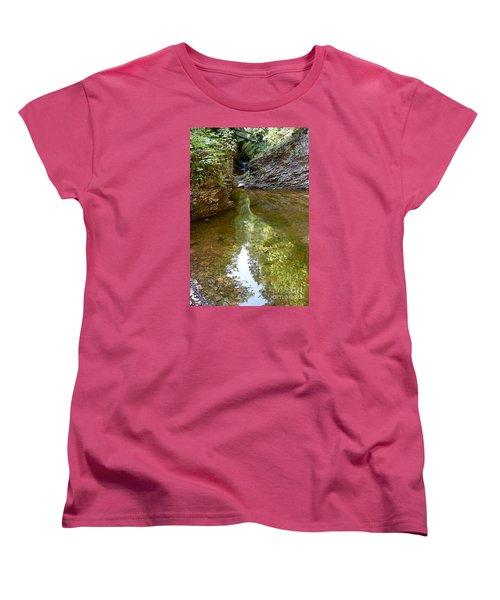 Women's T-Shirt (Standard Cut) featuring the photograph Hidden Gem On Gauthier Creek by Sandra Updyke