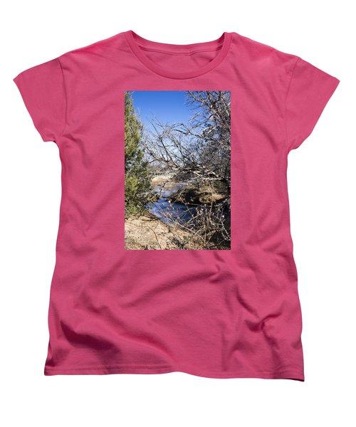 Hidden Swimming Hole Women's T-Shirt (Standard Cut) by Ricky Dean