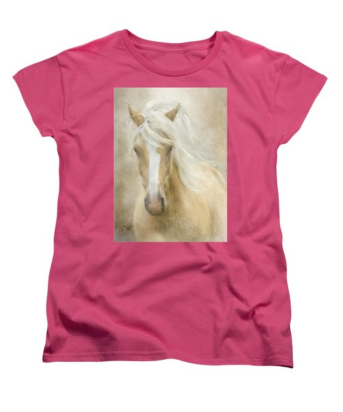 Women's T-Shirt (Standard Cut) featuring the painting Spun Sugar by Colleen Taylor