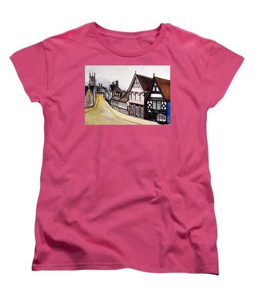 High Street Of Stamford In England Women's T-Shirt (Standard Cut)