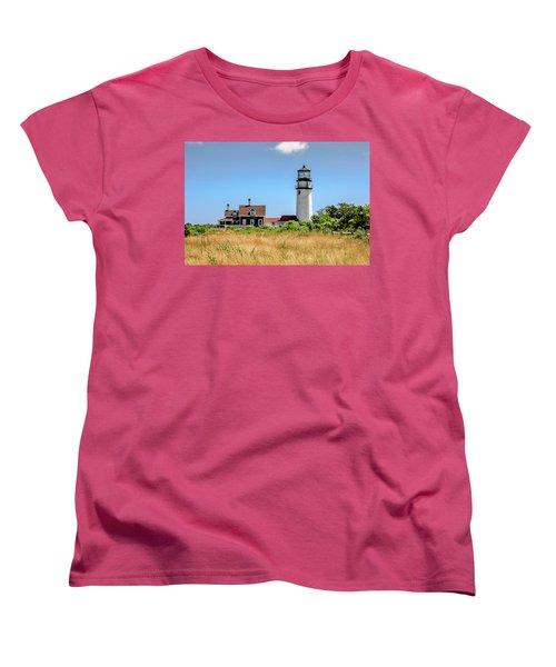 Women's T-Shirt (Standard Cut) featuring the photograph Highland Light - Cape Cod by Peter Ciro