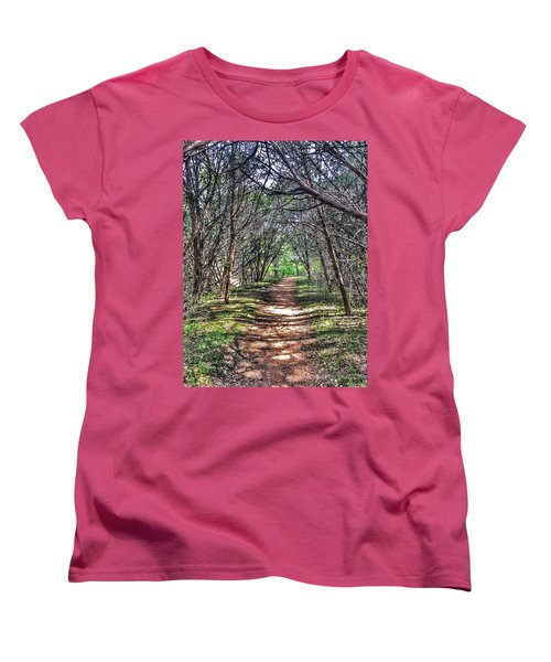 Hiking Meridian State Park  Women's T-Shirt (Standard Cut) by Debra Martz